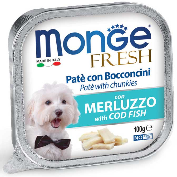 Консервы для собак Monge Dog Fresh треска